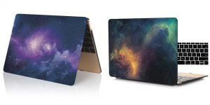 4. Coosybo Starry-sky Hard Rubberized Protective Cover for Apple Macbook Air 13 Inch - Model: A1369 and A1466