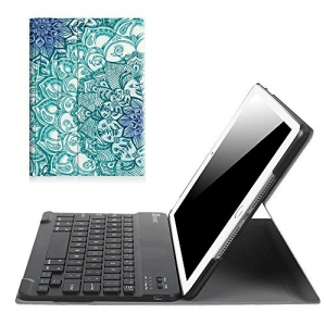 "8. Fintie Slim Shell Stand Cover with Magnetically Detachable Wireless Bluetooth Keyboard for Apple iPad 9.7"" 2017"