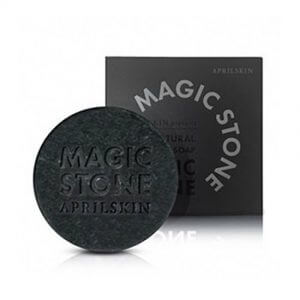 3. APRIL SKIN Magic stone black cleansing soap