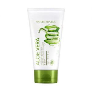 4. Nature Republic Soothing & Moisture Aloe Vera Foam Cleanser