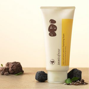 2. Innisfree Jeju volcanic pore cleansing foam