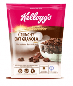 9. Kellogg'S Crunchy Oat Granola รส Chocolate Sensation