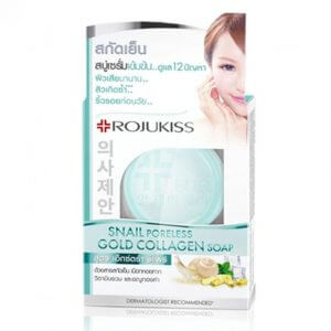 10. Rojukiss Snail Poreless Gold Collagen Soap (30 g.)