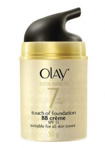 6. Olay Total Effects 7 in one Touch of Foundation BB crème SPF15