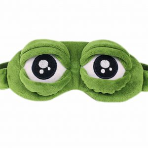 6. Fancyqube - Super Cute Frog Sleep Goggles Personality Cartoon Ice Bag Goggles Shade Breathable Goggles H01
