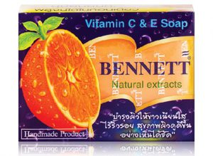 1. Bennett Natural Extracts Vitamin C & E Soap (130 g x 2Bars) [For Face & Body]