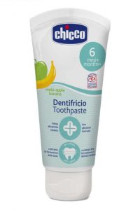 2. Chicco Oral Care Apple & Banana Toothpaste