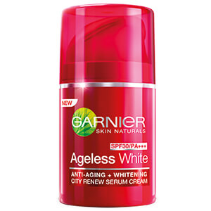 10. GARNIER Ageless White City Renew SPF30 PA+++ (50 ml)