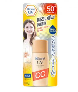 4. Biore - UV Color Control CC Milk SPF50+/PA++++