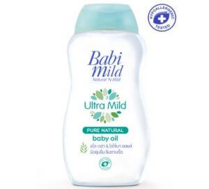 6. Babi Mild Ultra Mild Pure Natural Baby Oil (200ml) x 2
