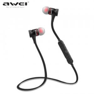 9. Awei A920bl Explosive Bass with Magnetic Lock In-Ear Bluetooth V4.0 Headset