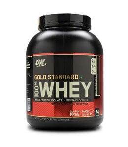 1. Optimum Whey Protein Gold 5 Lbs.-Double Rich Chocolate