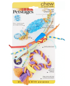 8.Petstages Dental Chew Pack Dog Toys Rubber and Cotton Toys For Dogs