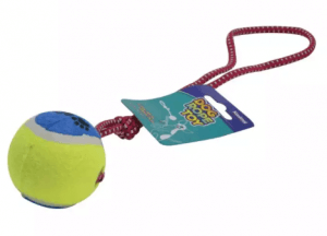6. No Brand - Dog Rope Toy Tugged Rope With Tennis Ball Toy For All Breed Dogs